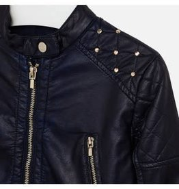 Mayoral Mayoral jasje leer look donkerblauw met rits