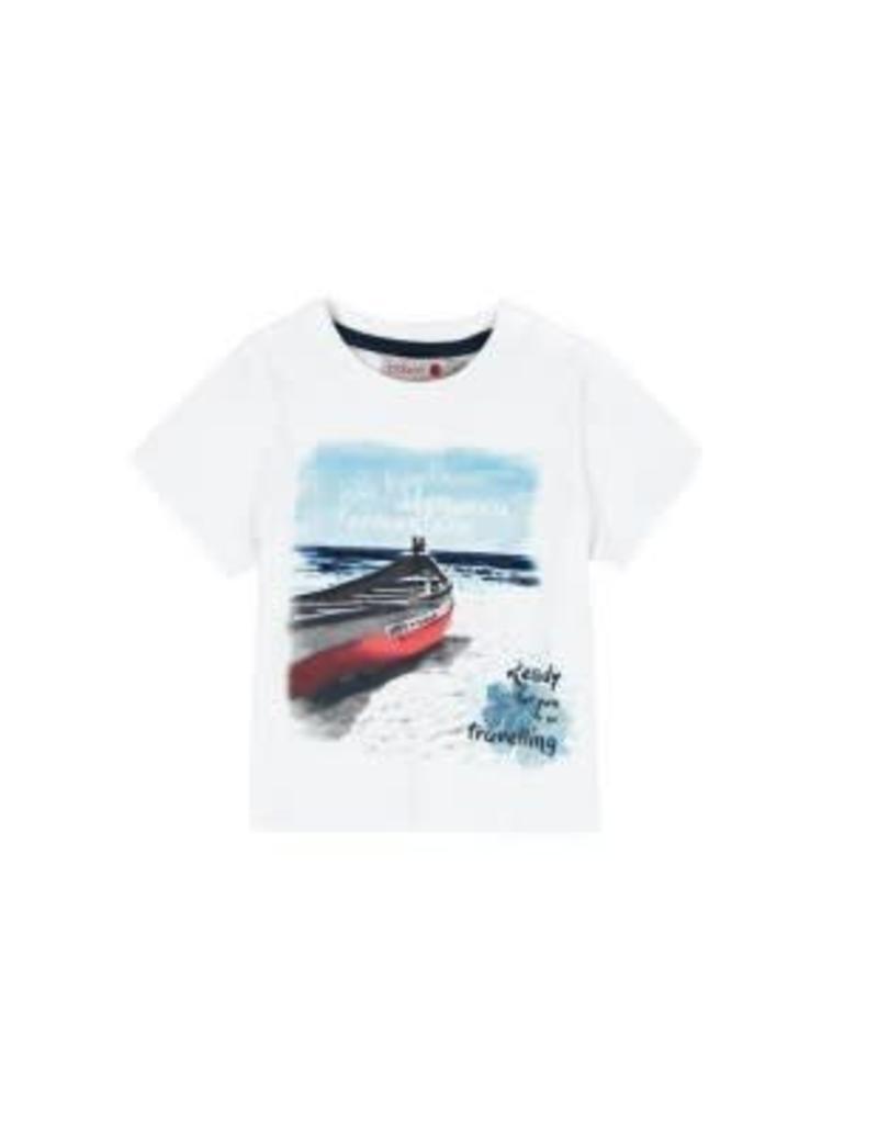 Boboli Boboli Shirt wit met bootjes 2