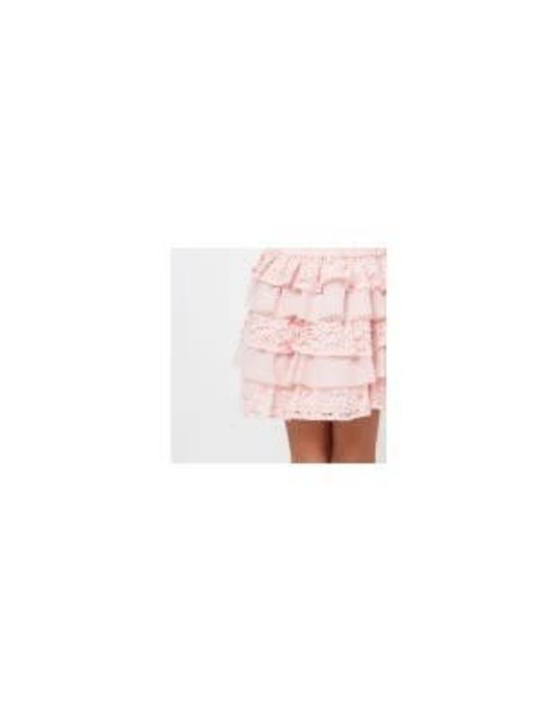 Conguitos Conguitos Rok roze met roezels van kant en tule
