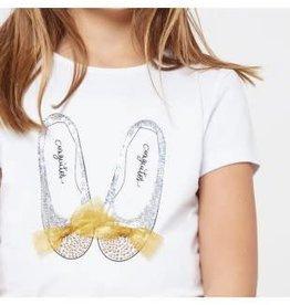 Conguitos Conguitos shirt wit met schoen en strikjes