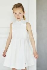 Baker Bridge Baker Bridge jurk klassiek model met tunnel kraag en strik
