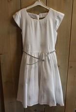 Happy Girls Jurk wit met zilveren riem