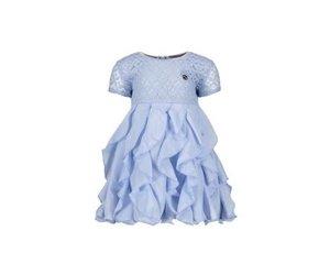 Licht Blauwe Jurk : Le chic le chic jurkje licht blauw van kant met roesel rok villa