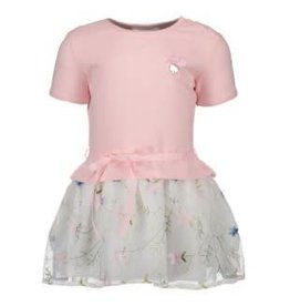 Le Chic Le Chic Jurk roze met tuille bloemen rok