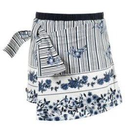 Jottum Jottum Rokje blauw wit van tricot