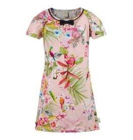 Jottum Jottum Jurk roze van tricot met vrolijke print