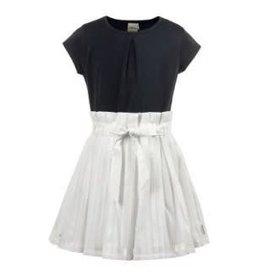 Jottum Jottum jurk donkerblauw met wit katoenen rok