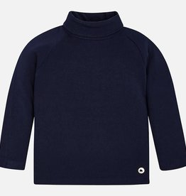 Mayoral Mayoral Basic ribbing mockneck sweate Navy