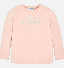 Mayoral Mayoral L/s basic t-shirt Nude
