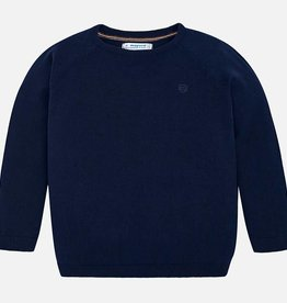Mayoral Mayoral Basic cotton sweater w/round Navy