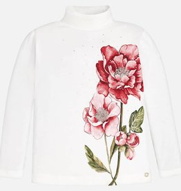 Mayoral Mayoral Printed mockneck Red Flower