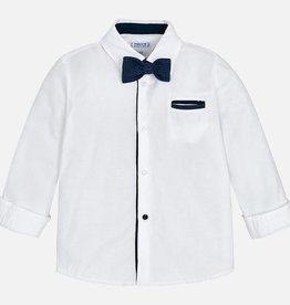Mayoral Mayoral L/s shirt with bowtie White