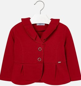 Mayoral Mayoral Plush ruffle cardigan Red