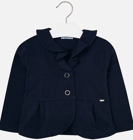 Mayoral Mayoral Plush ruffle cardigan Navy