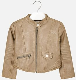 Mayoral Mayoral Leather jacket Camel