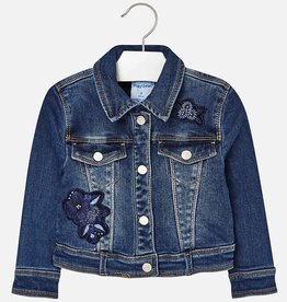 Mayoral Mayoral Embroidered denim jacket Basic