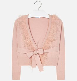Mayoral Mayoral Feather tricot cardigan Nude