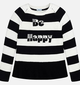Mayoral Mayoral Letters & stripes sweater Black