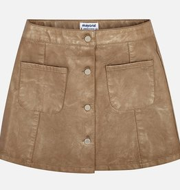 Mayoral Mayoral Faux leather skirt Golden