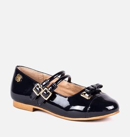 Mayoral Patent leather buckle shoes Navy
