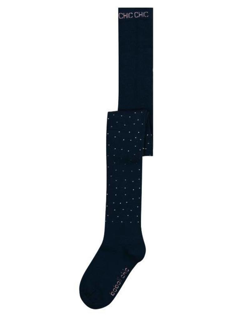 Boboli Boboli Thick tights for girl navy