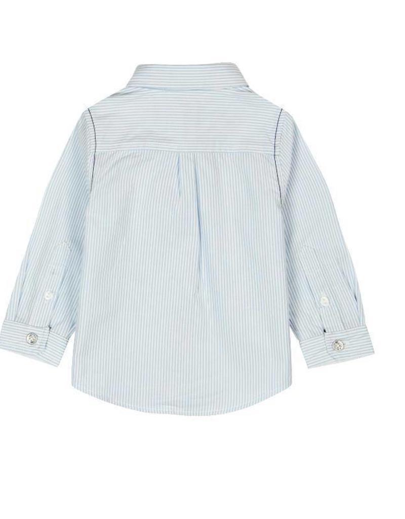 Boboli Boboli Poplin shirt for baby boy stripes