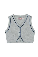 Boboli Boboli Knitwear vest for baby boy pearl