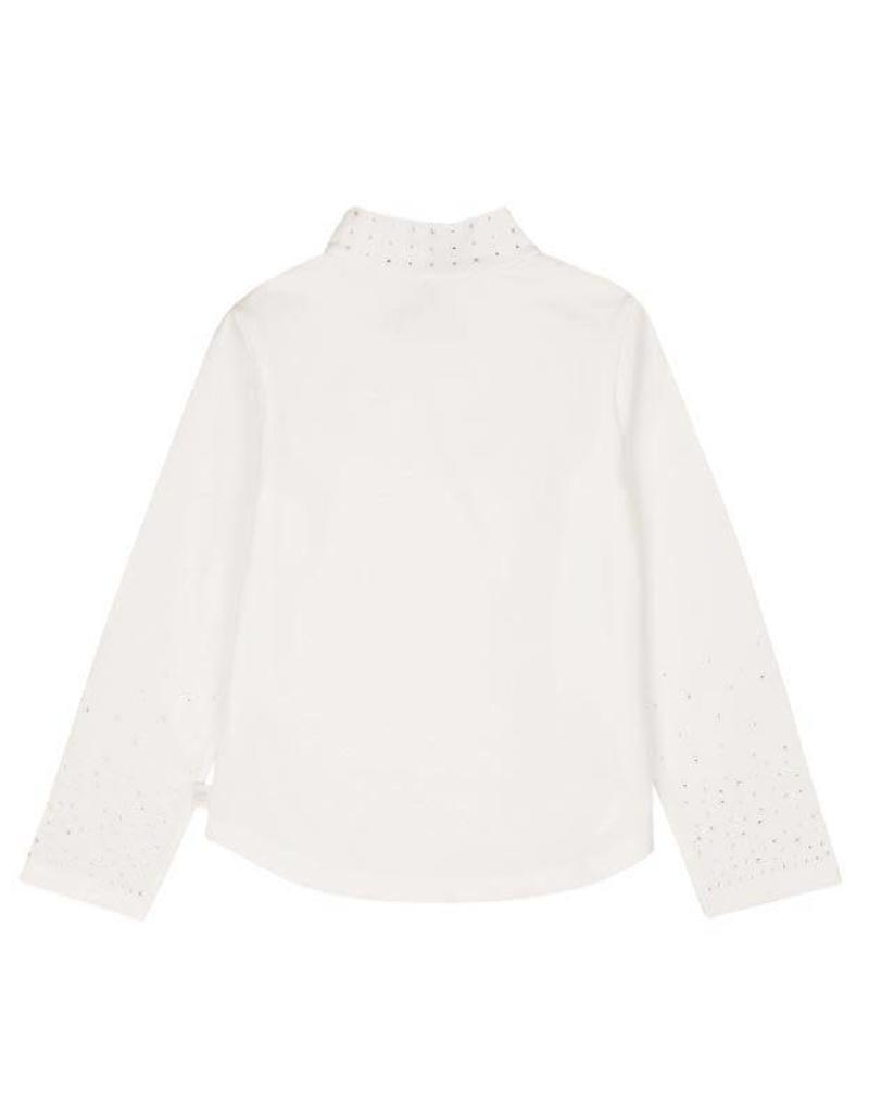 Boboli Boboli Stretch knit t-Shirt for girl OFF WHITE-3