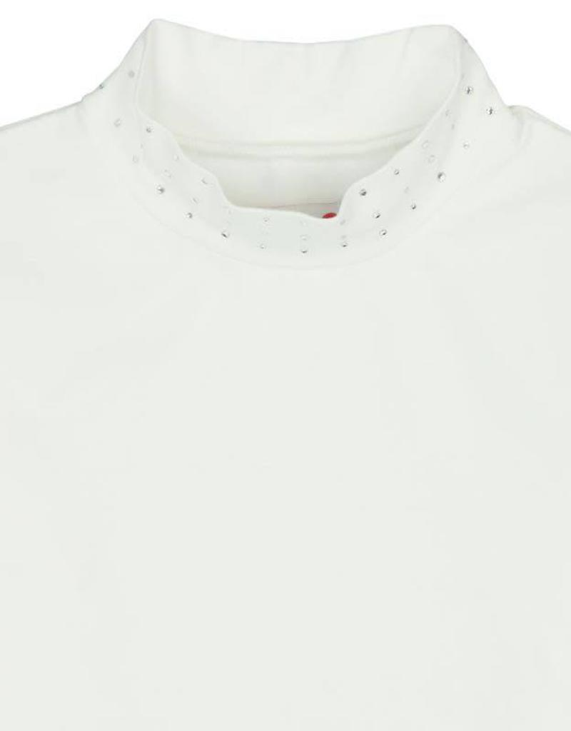 Boboli Boboli Stretch knit t-Shirt for girl OFF WHITE-3
