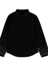Boboli Boboli Stretch knit t-Shirt for girl BLACK