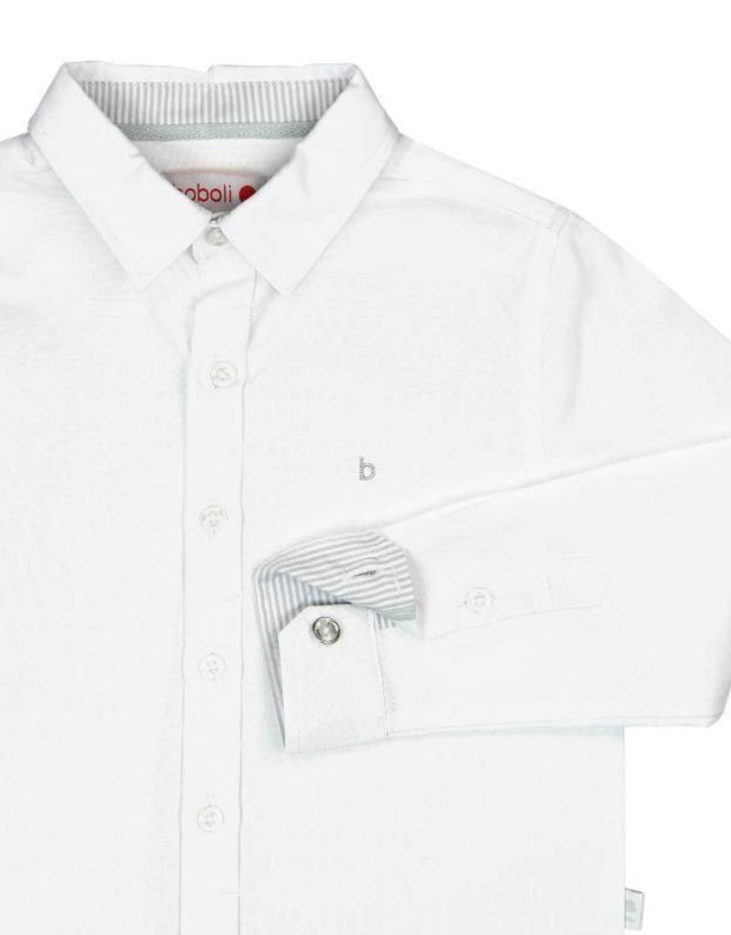 Boboli Boboli Oxford long sleeves shirt for boy WHITE