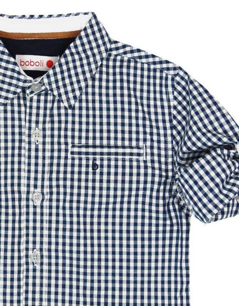 Boboli Boboli Poplin shirt for boy checks-2