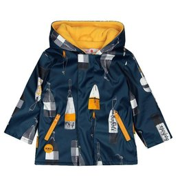 Boboli Boboli Hooded raincoat for baby boy print