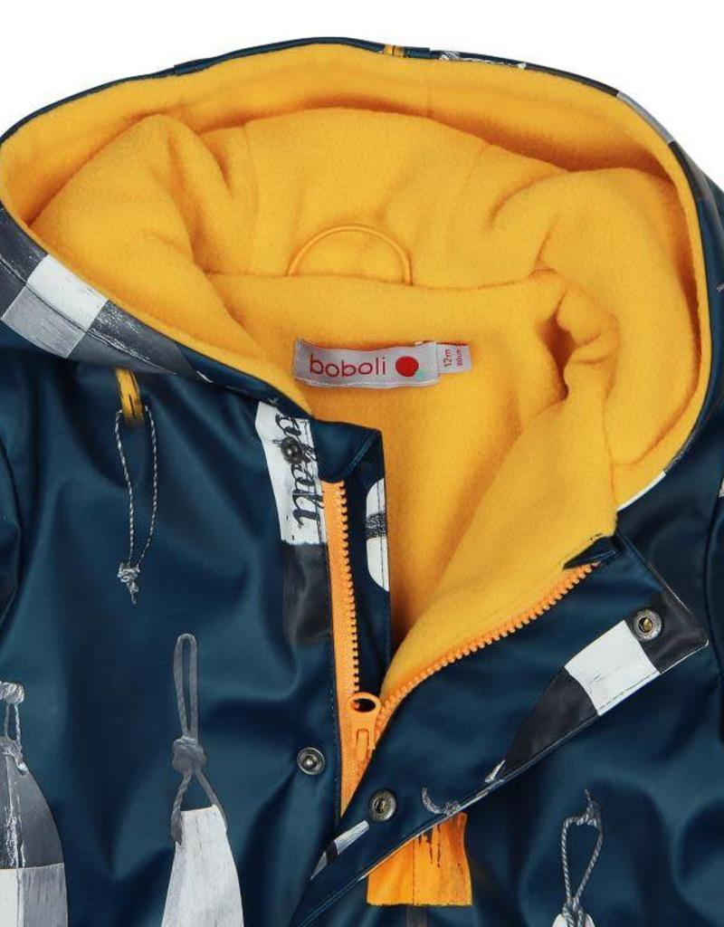 Boboli Boboli Hooded raincoat for baby boy print