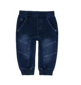 Boboli Boboli Fleece denim trousers for baby boy BLUE