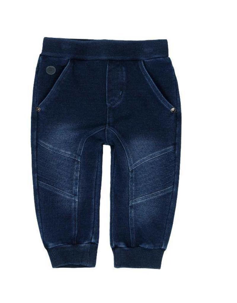 Boboli Boboli Fleece denim trousers for baby boy BLUE