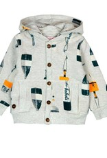 Boboli Boboli Fleece jacket for baby boy print