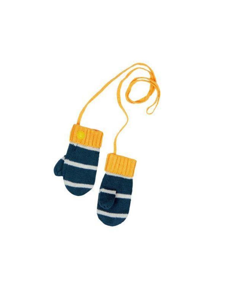 Boboli Boboli Knitwear mittens for baby boy mustard