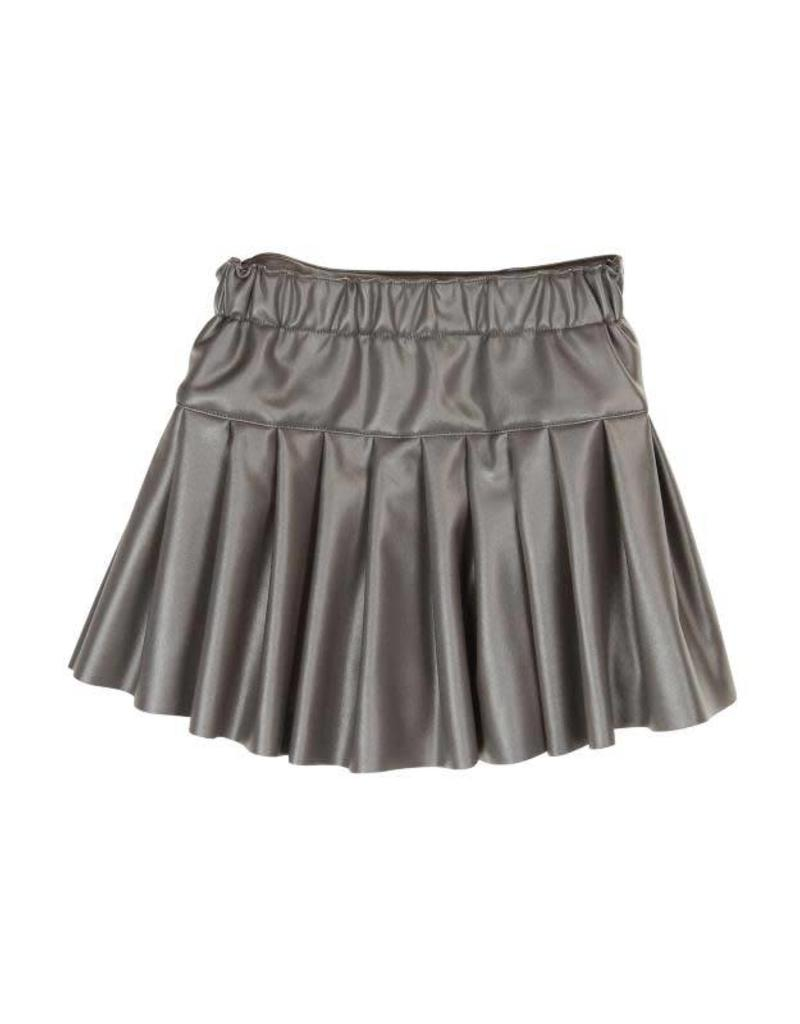 Boboli Boboli Synthetic leather skirt for girl steel