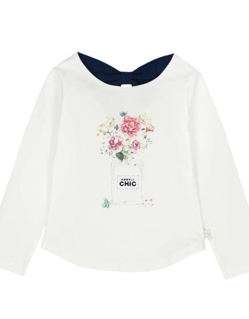 Boboli Boboli Stretch knit t-Shirt for girl OFF WHITE