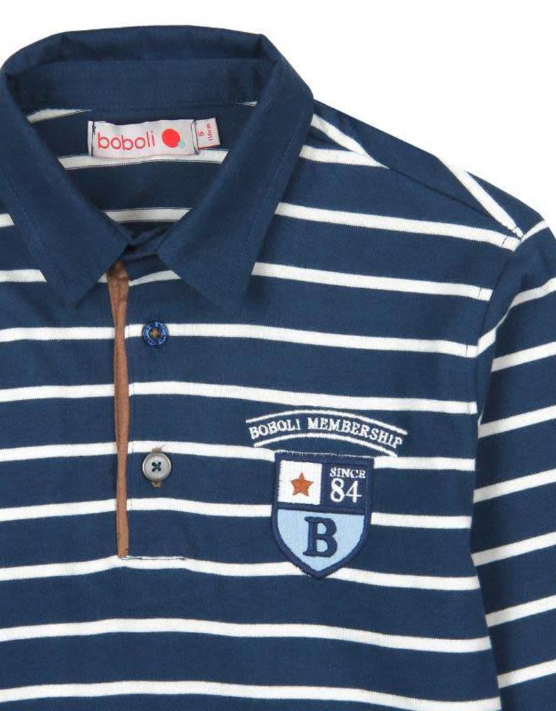 Boboli Boboli Knit combined polo for boy stripes