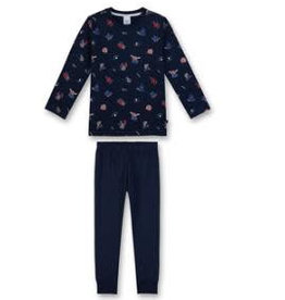 Sanetta classic Sanetta classic Pyjama long K CI Ice Hockey nordic blue