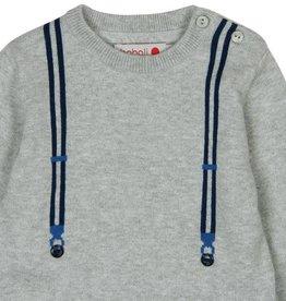 Boboli Boboli Knitwear pullover for baby boy pearl