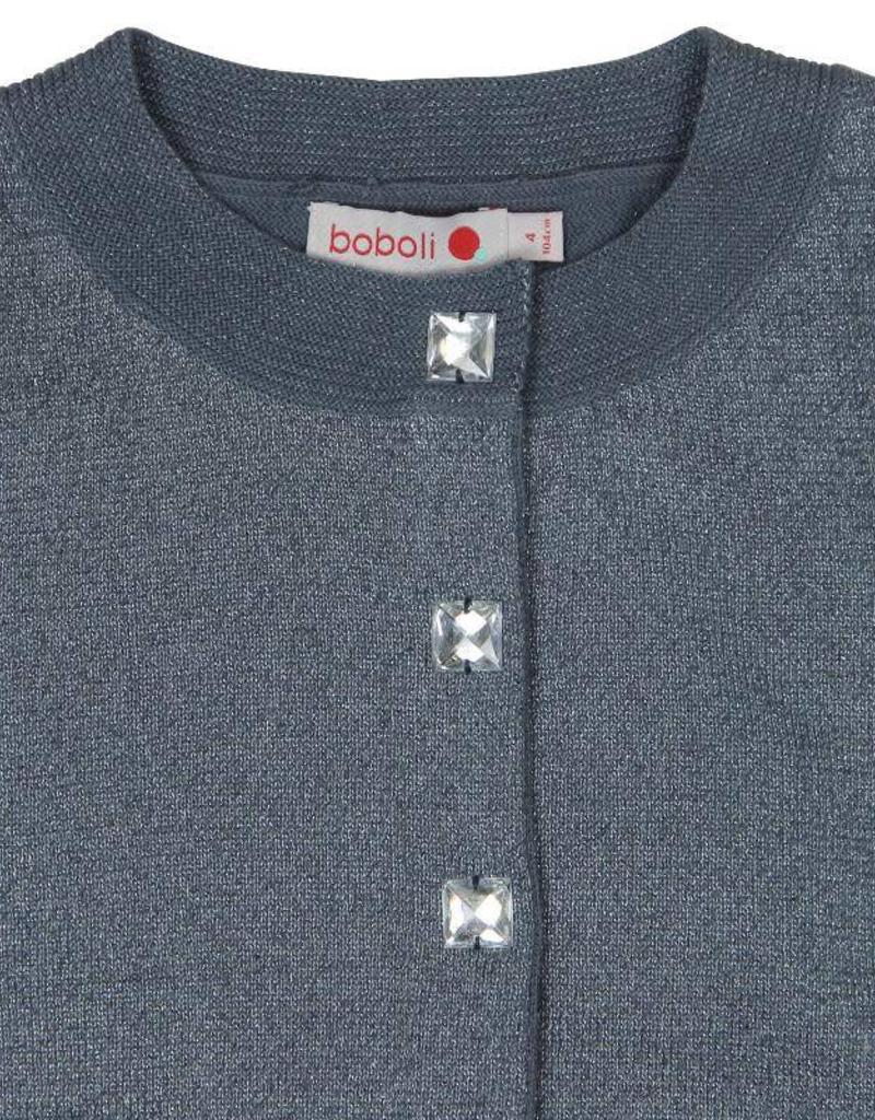 Boboli Boboli Knitwear jacket for girl ash