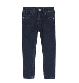 Boboli Boboli Denim stretch trousers for boy BLUE