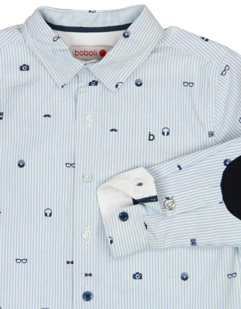 Boboli Boboli Poplin shirt for boy print
