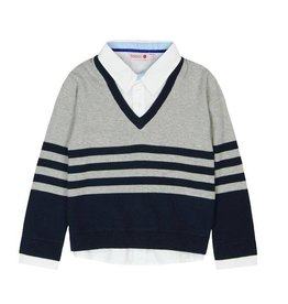 Boboli Boboli Knitwear combined pullover for boy navy