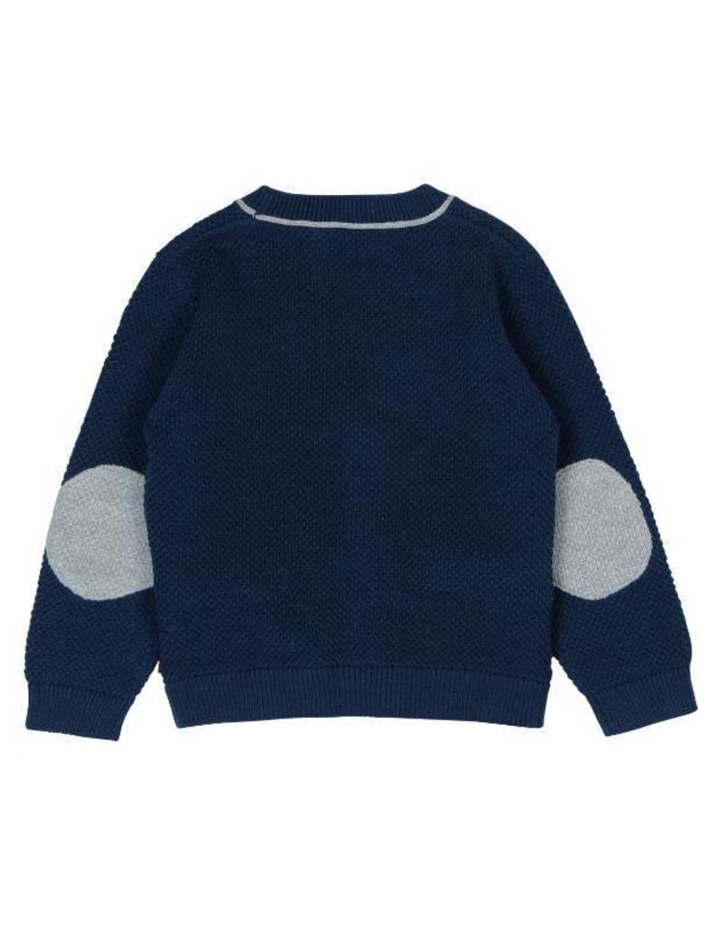 Boboli Boboli Knitwear jacket for baby boy navy