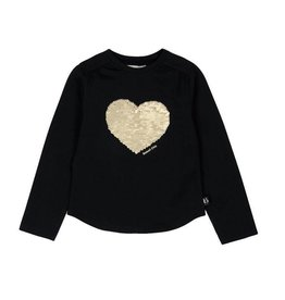 Boboli Boboli Stretch knit t-Shirt for girl BLACK-2