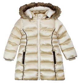 Boboli Boboli Technical fabric parka for girl gold